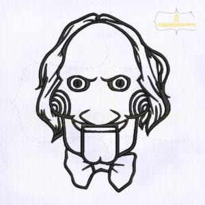 Saw Jigsaw Killer Mask Machine Embroidery Design