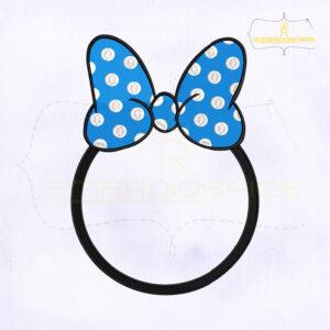 Minnie Bow Circle Monogram Embroidery Design
