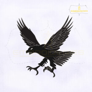 Eagle Landing Machine Embroidery Design
