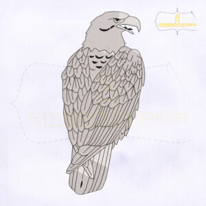 Peregrine Falcon Machine Embroidery Design