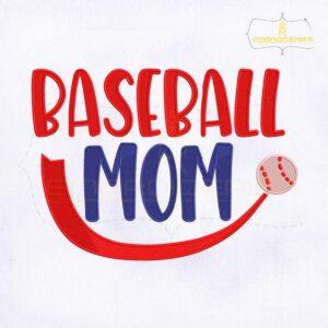 Baseball Mom Machine Embroidery Design