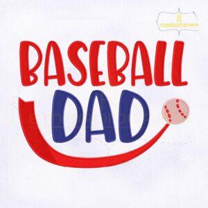 Baseball Dad Machine Embroidery Design