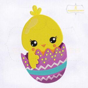 Baby Chicken Hatching Embroidery Design