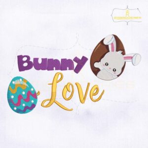 Bunny Love Easter Embroidery Design