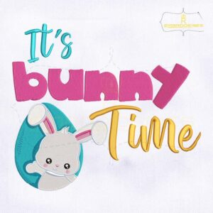 It's Bunny Time Easter Embroidery Design