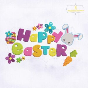 Beautiful Happy Easter Embroidery Design