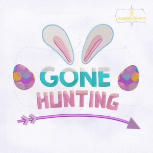Gone Hunting Easter Embroidery Design