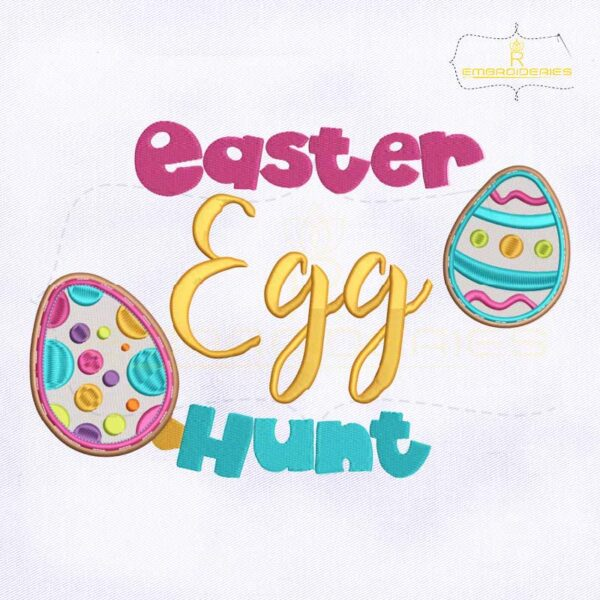 Easter Egg Hunt Machine Embroidery Design