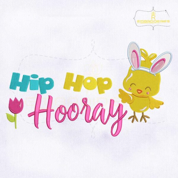 Hip Hop Hooray Embroidery Design
