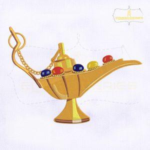 Aladdin Lamp Machine Embroidery Design