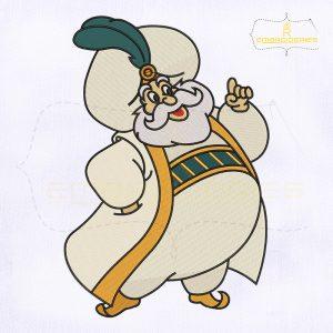 Aladdin The Sultan Embroidery Design