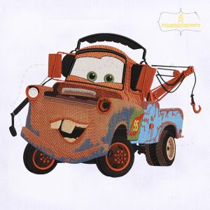 Tow Mater Truck Machine Embroidery Design