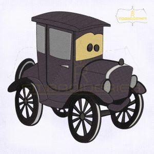 Car Lizzie Machine Embroidery Design