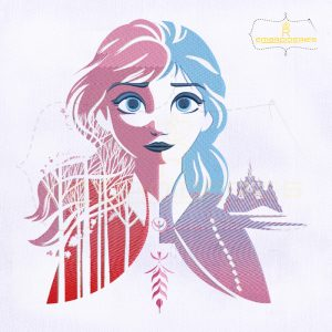 Anna Drawing Clear Background Embroidery Design